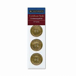 Gold Foil Certificate Seals Medallion Pack of 12 (SOUS3)