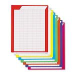 "Vertical Incentive Chart Pack 22""w x 28""h 8 Assorted Colors Pack of 8 (TEPT73901)"