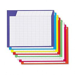 "Horizontal Incentive Chart Pack 28""w x 22""h Assorted Colors Pack of 8 (TEPT73902)"