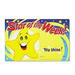 "Recognition Awards Star of the Week! 8-12""w x 5-12""h Pack of 30 (TEPT8107)"