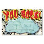 "Recognition Awards You Rock 8 12""w by 5 12""h Pack of 30 (TEPT81401)"