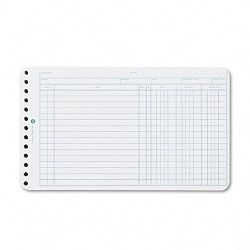Extra Sheets for Six-Ring Ledger Binder Pack of 100 (WLJ75850)