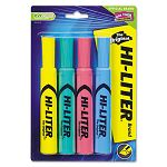 Desk Style Highlighter Chisel Tip Assorted Colors Set of 4 (AVE17752)