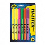 Fluorescent Pen Style Highlighter Chisel Tip Set of 6 (AVE23565)