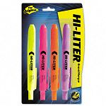 Retractable Highlighter Chisel Tip Assorted Colors Set of 4 (AVE59489)