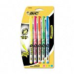 Brite Liner + Highlighter Chisel Tip Set of 5 (BICB4P51ASST)