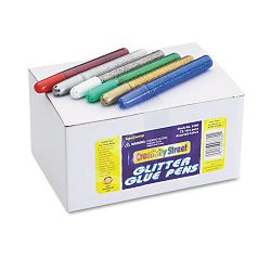 Glitter Glue Pens Assorted 10 cc Tube Pack of 72 (CKC338000)