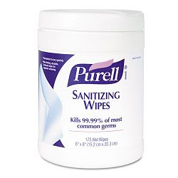 "Premoistened Sanitizing Wipes Cloth 6"" x 8"" 175Canister Carton of 6 (GOJ901006CT)"