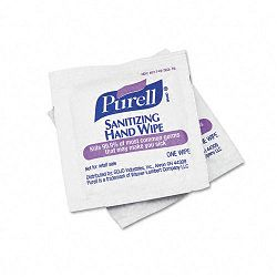 "Premoistened Sanitizing Hand Wipes 5"" x 7"" Box of 100 (GOJ902210BX)"