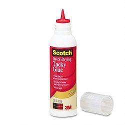 Quick-Drying Tacky Glue 4 oz Roller (MMM6052B)