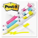 Flag Highlighters BlueYellowPink 50 FlagsPen Pack of 3 (MMM689HL3)