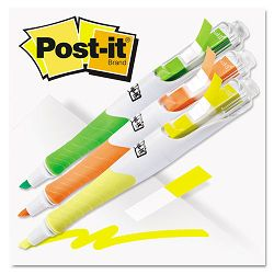 Flag Highlighters YellowGreenOrange 50 FlagsPen Pack of 3 (MMM689HL3FL)