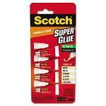 Scotch Single Use Super Glue 12 Gram Tube No-Run Gel Pack of 4 (MMMAD119)