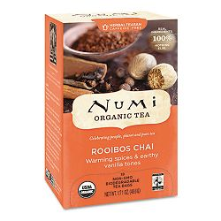 Organic Teas and Teasans 1.71 oz Ruby Chai Box of 18 (NUM10200)