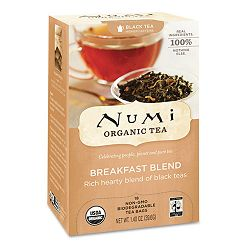 Organic Teas and Teasans 1.4 oz Breakfast Blend Box of 18 (NUM10220)