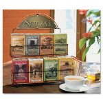 "Tea Rack 14 12"" x 12"" x 17 34"" Black 3 Boxes Each of 8 Flavors of Tea (NUM11002)"
