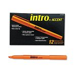 Intro Highlighters Chisel Tip Fluorescent Orange Pack of 12 (PAP22706)