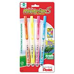 Handy-line S Retractable & Refillable Highlighter Assorted Pack of 4 (PENSXS15BP4M)