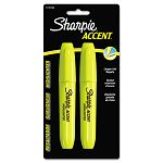 Accent Jumbo Highlighter Chisel Tip Fluorescent Yellow Pack of 2 (SAN1733164)