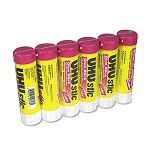 UHU Stic Permanent Clear Application Glue Stick 1.41 oz Pack of 6 (SAU99840)