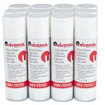 Permanent Glue Stick .74 oz Stick Pack of 12 (UNV75750)