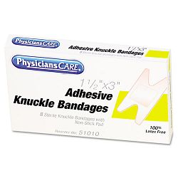"Elastic Knuckle Adhesive Bandages 4"" x 2-12"" x 58"" Box of 8 (ACM51010)"