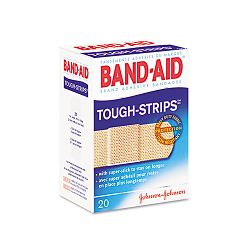"Flexible Fabric Adhesive Tough Strip Bandages 1"" x 3-14"" Box of 20 (JOJ4408)"