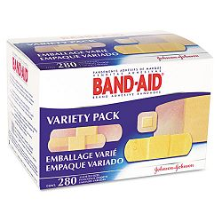 SheerWet Adhesive Bandages Assorted Sizes Box of 280 (JOJ4711)