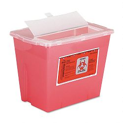 Sharps Container Square Plastic 2 Gallon Red (IMP7352)