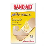 Antibiotic Adhesive Bandages Assorted Sizes Box of 20 (JOJ5570)