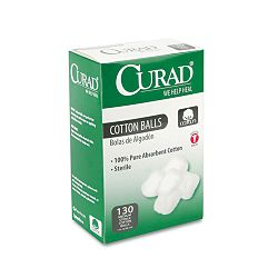 "Sterile Cotton Balls 1"" Box of 130 (MIICUR110163)"