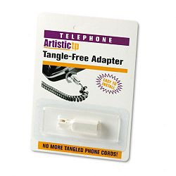 Rotating 360 Telephone Cord Detangler White (SOF21000)