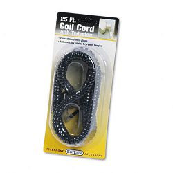 Twisstop Detangler wCoiled 25-Foot Phone Cord Black (SOF03201)