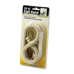 Twisstop Detangler wCoiled 25-Foot Phone Cord Ivory (SOF03205)