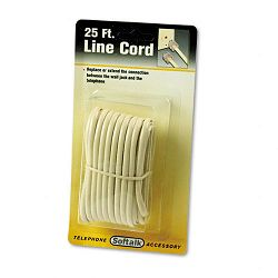 Telephone Extension Cord PlugPlug 25 ft. Ivory (SOF04020)