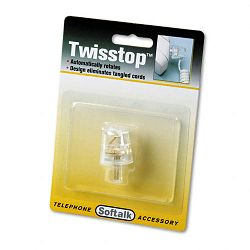 Twisstop Rotating Phone Cord Detangler Clear (SOF1500)