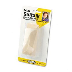 "Mini Softalk Telephone Shoulder Rest 4-12"" Long x 1-34w x 2h Ivory (SOF305)"