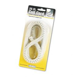 Coiled Phone Cord PlugPlug 25 ft. Ash (SOF42215)