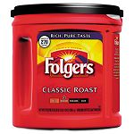 Coffee Classic Roast Regular Ground 33.9 oz. Can Carton of 6 (FOL00367CT)