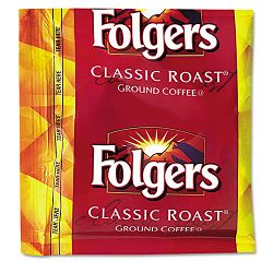 Coffee Classic Roast 0.9 oz Fractional Packs Carton of 36 (FOL06125)