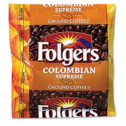 Coffee Colombian Ground 1.75 oz Pack Carton of 42 (FOL06451)