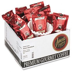 Coffee Portion Packs 1-12 oz Packs Colombian Decaf Box of 42 (JAV302142)