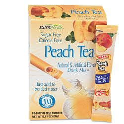 Flavor Stix for Bottled Water Sugar-Free Peach Tea .07 oz 10 StixBox (OFX02724)