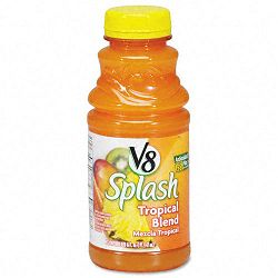 V-8 Splash Tropical Blend 16 oz. Bottle Box of 12 (OFX14654)