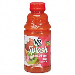 V-8 Splash Strawberry Kiwi 16 oz. Bottle Box of 12 (OFX14655)