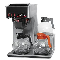 Three-Burner Low Profile Institutional Coffee Maker Stainless Steel (OGFCP3LB)