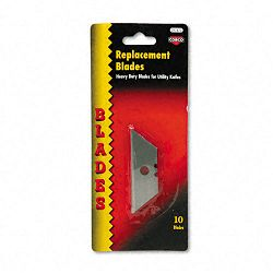 Heavy-Duty Utility Knife Blades Pack of 10 (COS091470)