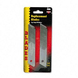 Snap Blade Utility Knife Replacement Blades Pack of 10 (COS091471)