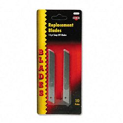 QuickPoint Snap-Off Straight Handle Retractable Knife Replacement Blade Pack of 10 (COS091473)