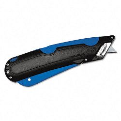 Easycut Cutter Knife with Self-Retracting Safety-Tipped Blade BlackBlue (COS091508)